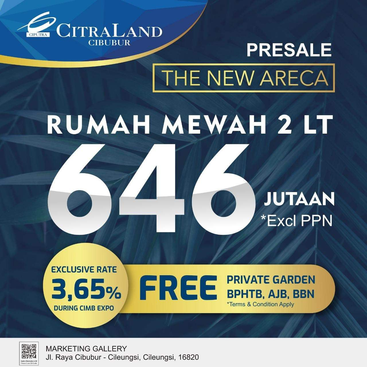 The New Areca Presale CitraLand Cibubur